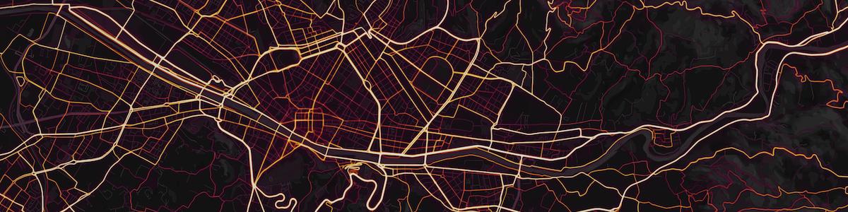 La mappa mondiale del ciclismo di Strava