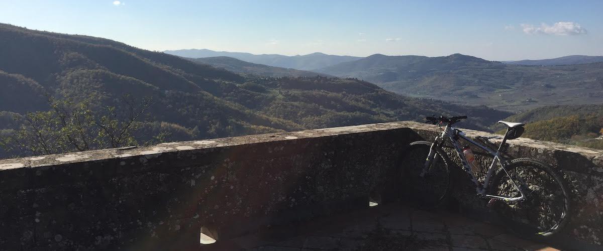 panorama dalla terrazza della fattoria di Petrognano